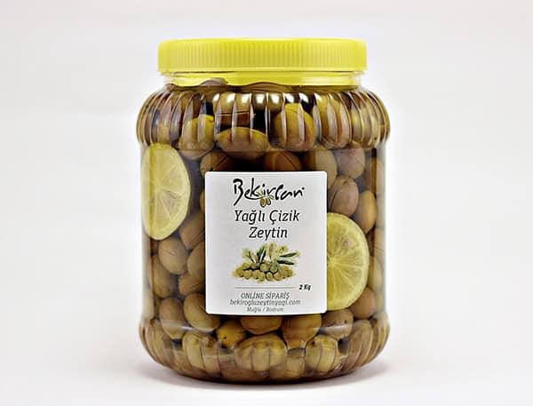 Limonlu ve Zeytinyagli Cizme Zeytin - Yağlı & Limonlu Çizik Zeytin